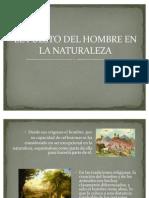 EL PUESTO DEL HOMBRE EN LA NATURALEZA. César Reyes Contreras.