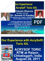 Our Experience With AcrySof Toric IOL Dr Suresh K Pandey, SuVi Eye Institute Kota Rajasthan India