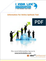 Aptitude Test Details - Tech India Line