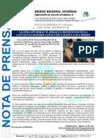 NOTA DE PRENSA Nº 118-2011