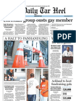 The Daily Tar Heel for August 30, 2011