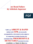 Acute Renal Failure (Clinical Clerks) by Abhishek Jaguessar