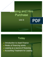 Unit II Leasing and Hire Purchase