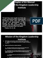 Mission of KLI Presentation_First Chapter 082911