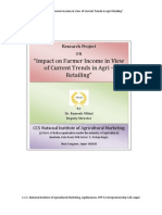 Impact on Farmer Income in View of Current Trends in Agri - Retailing