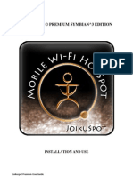 Joikuspot Premium Symbian3 Edition User Guide