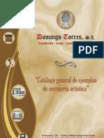 Catálogo Barandas y Barandillas de Domingo Torres S.L.