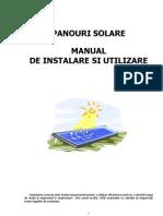 Panouri Solare Sisteme Complete Baxi Manual de Instalare Si Utilizare