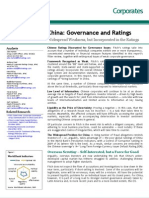 China Governance and Ratings