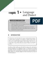 Dialect vs Language