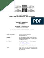 FHA Subject Guide 2011