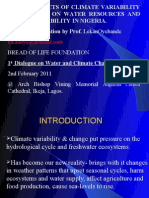 Climate Variability & Change on Water Resources Availability in Nigeria