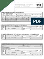 Mfinante_dec 050 Cerere de Inreg. a Domiciliului Fiscal Al Cotribuabilului