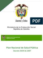 Plan Nacional de Salud Publica _2007_2010 Agosto10de2007