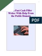 Be a Fast Cash Filler Writer