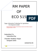 RR1002A01 Term Paper ECO515 Sangeet Economics