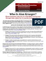 Who Is Alan Krueger?