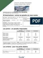 Le Domaine Skiable Paradiski Hiver 2011-2012