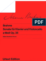 3003155 Brahms Sonata for Cello and Piano No 1 in E Minor Op 38 I Urtext Ed
