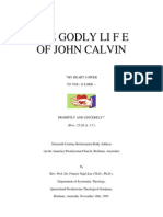 The Godly Life of John Calvin