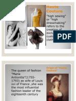 Haute Couture Ppt