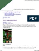 BadaDev » How to create bada widgets