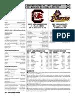 Official USC vs ECU Game Notes