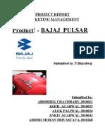 MM Project Report(Bajaj Pulsar)
