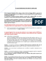 MODIFICHE ALLE REGOLE DI GIOCO 2009-2012 DA CF 20 SETT 08