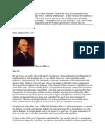 Essay Exam 1 - Jefferson Letter to Madison