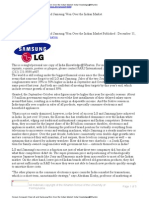 How LG and Samsung Won Over the Indian Market - Wharton Article - 2008