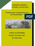 Ytringsfrihetsprisseminaret 9. Desember 2011 Program