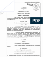 Statuts de la filiale d'Amesys/BULL en Suisse