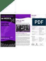 Programa XXXIII festivla de música de Sant Pere Pescador Estiu 2011