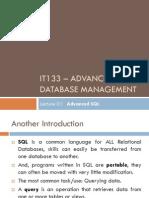 Advanced SQL