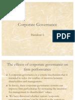 Handout 6 Corporate Governance
