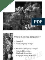 Janice Lam Hiu Wah - Historical Linguistics
