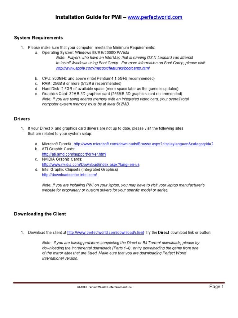 PWI Installation Guide FINAL | Microsoft Windows | System