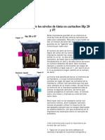 Restauración de los niveles de tinta en cartuchos Hp 28 y 57