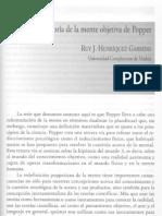 """""""La teoría de la mente objetiva de Popper"""