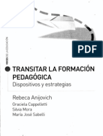 Transitar La Formacion Pedagogica Rebeca Anijovich