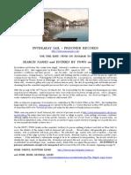 Inveraray Jail - Prisoner Records
