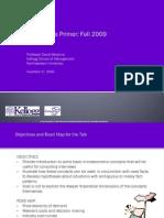 Microeconomics Primer
