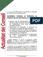 Presentación Campaña Inundaciones 2011