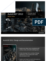 AutoCAD 2012 Whats New