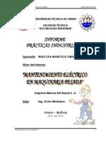 Informe de Pasantia 2010_Mantto Electrico Equipo Pesado_Inti Raymi