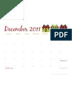 December 2011 Calendar - The Twinery