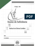 Exame Suficiência 2011 Bacharel