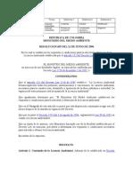 Res. 0655-96. obtención de la Licencia Ambiental