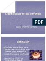 Clasificacion de Las Disfonias 31 de Marzo 2008
